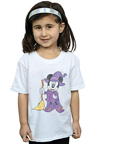 Disney Girls Minnie Mouse Witch Costume T-Shirt White 5-6 Years]()