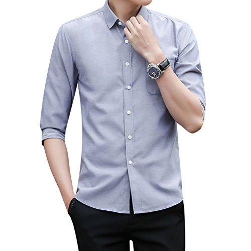 相互接続フレア意味yシャツ メンズ シャツ メンズ 七分袖 無地 夏 秋 カジュアル ワイシャツ TOOCH