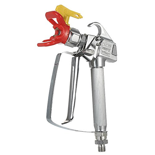 Wagner Pump (KKmoon 3600PSI High Pressure Airless Paint Spray Gun With 517 Spray Tip Nozzle Guard for Graco Wagner Titan Pump Sprayer And Airless Spraying Machine)