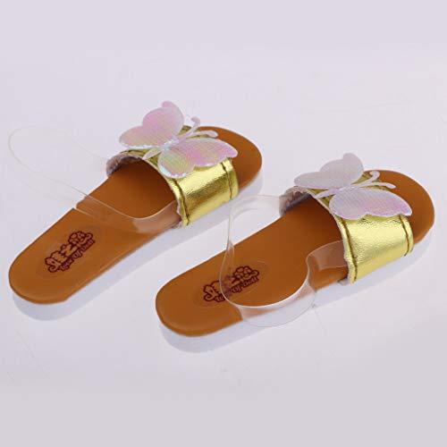 Appartamenti Elegante Arancia Brand Non 3 Accessorio Per Dollfie Oro Pantofole Scarpe Sharplace 1 Pu Sandali Bjd 4BTTqwvR6