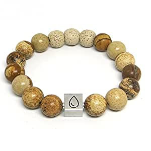 Earthly Comfort Essential Oil Bracelet: Premium, Handcrafted Lava Rock Aromatherapy Diffuser Bracelet