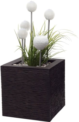 Laguna Decor Faux Wood Contemporary Design Decorative Water Feature Kit, Visio