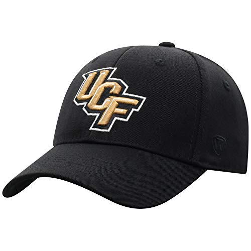 (Top of the World Central Florida Golden Knights Men's Memory Fit Hat Icon, Black, One Fit)