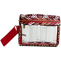 LONDON SOHO NEW YORK Zig Zag Collection Cosmetic Fitted Wristlet Organizer