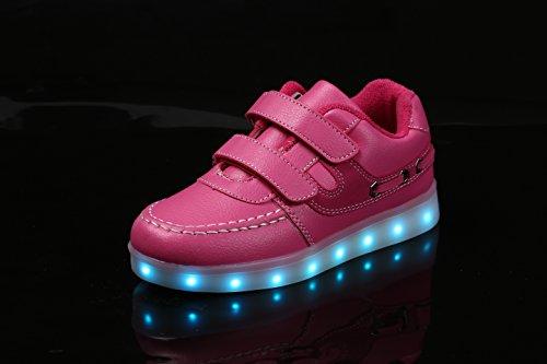 LJ Sport - Zapatillas de poliuretano para niña Rosa