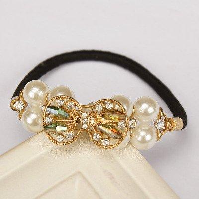 Graceful pearl Hair Band Hair Tie Hair Rope Scrunchie Ponytail Holder headwear Rubber Band Hair Ring Hair Jewelry hair decorations