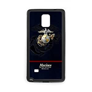 Marine Corps Metal Pattern Anchor Samsung Galaxy note 4 Case Cover (Laser Technology)