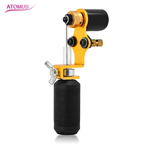 ATOMUS Gold Tattoo Machine Shader & Liner Assorted Tattoo Motor Gun Kits Supply For Artists - Shader Gun