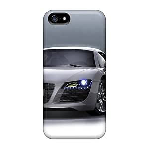 LeoSwiech Apple Iphone 5/5s Shock-Absorbing Hard Cell-phone Cases Unique Design High Resolution Audi R8 Pattern [MRe26279HCKs]