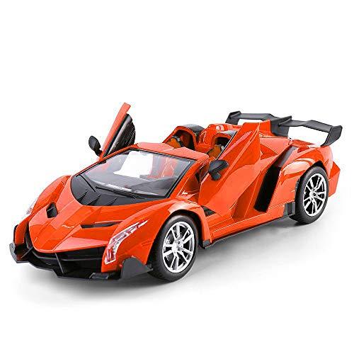 - Super Car Orange Lamborghini Veneno Battery Operated Remote Control Car -Kids Favorite Toy -1/14 Scale RC