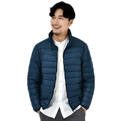 Color Jacket Tops Warm Autumn Solid Blue Collar Zipper Tianya Outwear Jacket Down Thin Windproof Winter Down Mens Popular Coats Winter Stand H1qwvY
