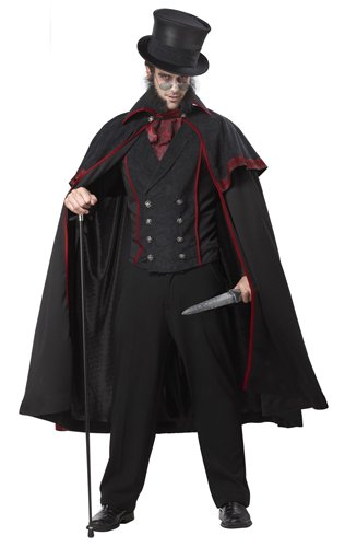 Zorro Costumes For Couples (California Costumes Jack The Ripper Set, Black/Red,)