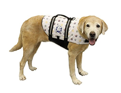 Image of Paws Aboard Doggy Life Jacket, Large, Nautical Dog