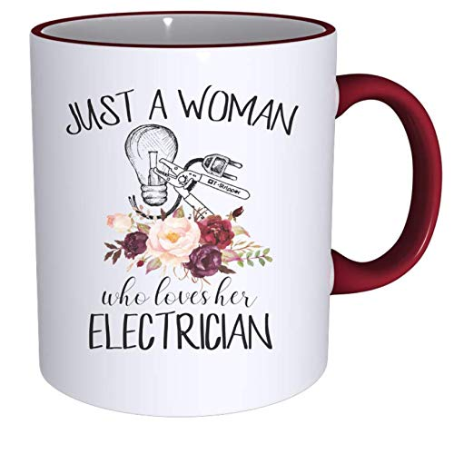 Just a Woman Who Loves Her Electrician Sublimated Mug. 2 Sided 11 -