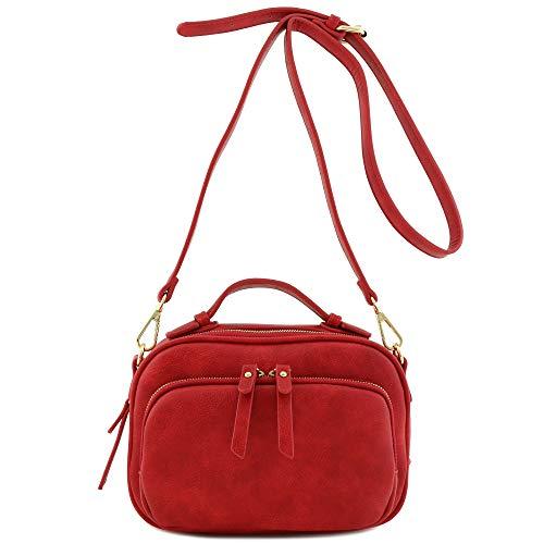 Top Handle Mini Satchel Bag Crossbody Purse Red