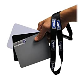 Opteka Medium 5 X 4 inches Color and White Balance Reference Grey Card Set With Quick Release Neck Strap for Digital Photography