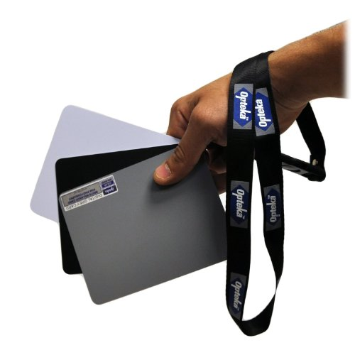 Ezybalance Grey Card (Opteka Medium 5 X 4 inches Color and White Balance Reference Grey Card Set With Quick Release Neck Strap for Digital Photography)
