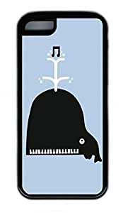 iPhone 5C Case, Personalized Protective Rubber Soft TPU Black Edge Case for iphone 5C - Piano Do Cover by mcsharks
