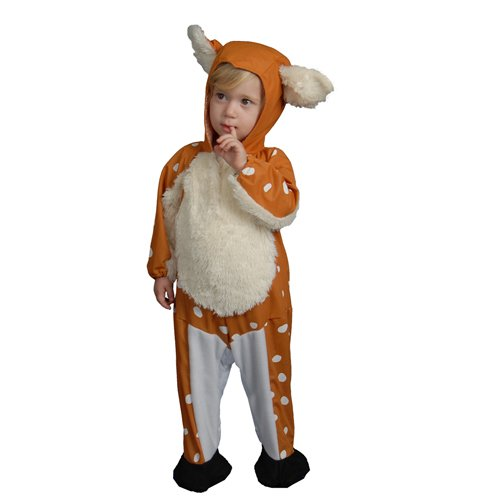 Baby Fawn Halloween Costume (Dress Up America Baby Fawn, Brown, 0-12 Months)