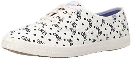 Keds Women's Champion Bike Dot Fashion Sneaker, Off-White, Size 11.0