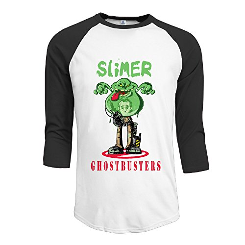 [NINJOE Men's Performance 3/4 Raglan Cartoon Slimer T Shirts Black S] (Breaking Bad Pumpkin Stencils)