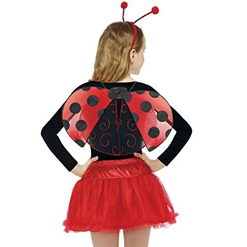Girls Kids Ladybug Ladybird Bumble Bee Insect Bug Fancy Dress Costume Wings (Ladybird)