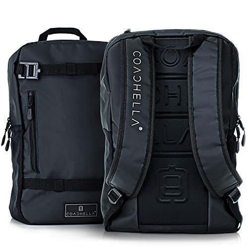 COACHELLA Commuter Backpack 15L | Black Backpack for Women | Spacious Gym Backpack | Waterproof Backpack for Men | Millennial Backpack Waterproof Bags For Travel | School Backpack | Mochilas De Mujer ()