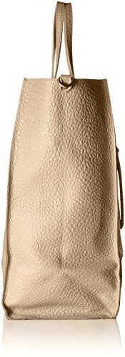 Chicca Borse 8622, Borsa a Spalla Donna, 46x34x16 cm (W x H x L) Beige (Taupe)