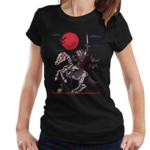 The Red Moon Rises Halloween Legend of Zelda Women's T-Shirt -