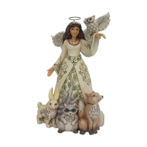 Jim Shore Heartwood Creek by Enesco Spring White Woodland Angel Figurine Jim Shore Angel Spring