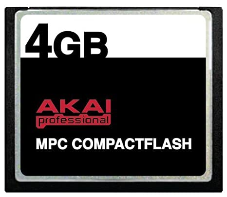 4GB Akai MPC CompactFlash CF Memory Card for MPC500, MPC1000, MPC2500 and MPC5000