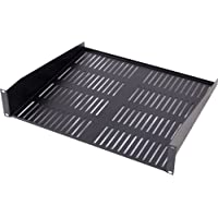 1U Vented Shelf - Black