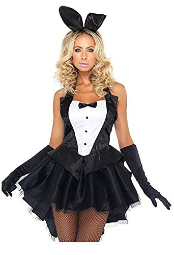 YaMeiDa Women's Playboy Bunny Costume Sexy Halloween Cosplay Tuxedo Party Dress Up Costume -