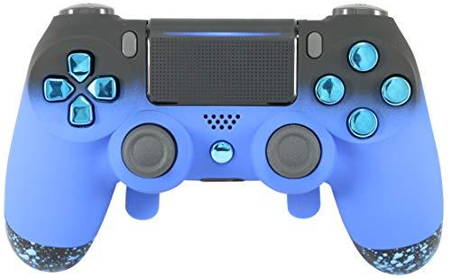 SHOPUS   PS4 Elite Controller Soft Touch Blue Chrome Custom