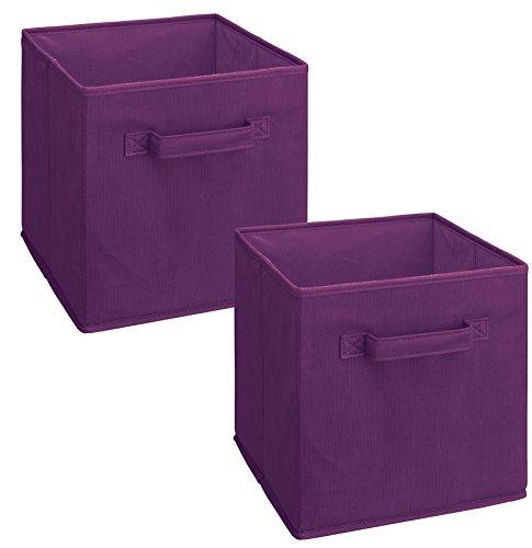 ClosetMaid 11469 Cubeicals Cajón de Tela, púrpura, Paquete de 2