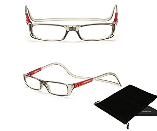 df1496a45583 TOPSTARONLINE Multi-Color Adjustable Magnetic Reading Glasses from +1.00 to  +4.00 Diopters (+4.00