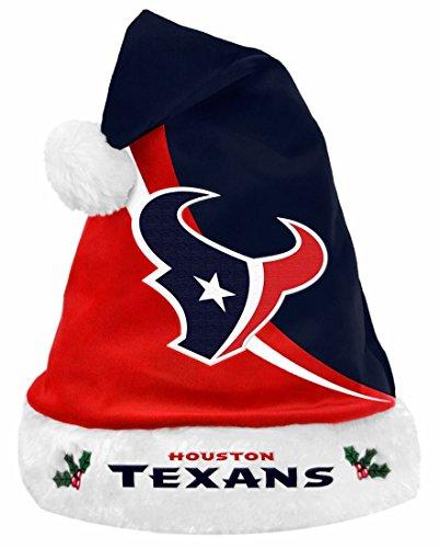 FOCO Houston Texans Swoop Logo Santa Hat