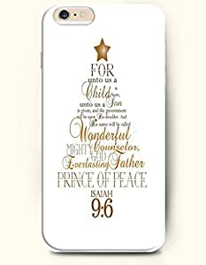 OOFIT Authentic Cases for iPhone 6 (4.7inch) - Hard Back Plastic Case /Merry Christmas Xmas / For unto us a Child is Born, unto us a Son is Given and his Name will be called wonderful,Counselor,Mighty God, the Everlsting Father, the Prince of Peace. Isaiah 9 verse 6 by supermalls