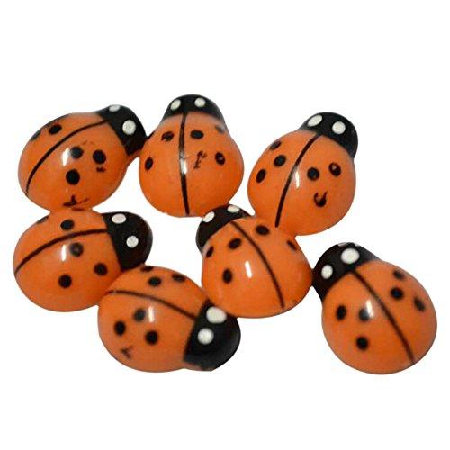 Gilroy 100 Pcs Mini 3D Plastic Ladybird Home Decor Wall Stickers Kids Toys DIY Ladybug - Stores Gilroy