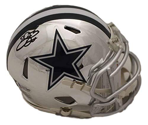 Emmitt Smith Autographed Mini Helmet - Chrome BAS 22558 - Beckett Authentication - Autographed NFL Mini Helmets ()