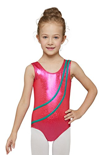 Gymnastics Leotard for teen with Stretchy Fabric (Hot Pink, Age 12-14 , Tag 150 )