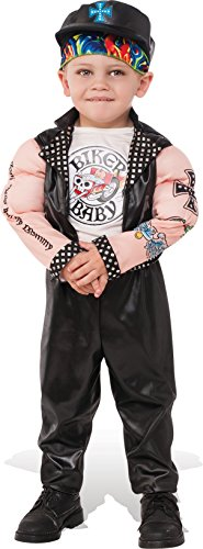 Motorcycle Cop Costumes (Rubies Costume Child's Muscle Man Biker Costume, Medium, Multicolor)