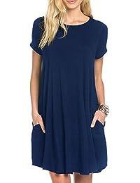 Women's Swing Loose T-Shirt Fit Comfy Casual Flowy Cute...