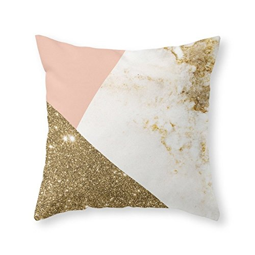 Sea Girl Soft Gold Marble Collage Throw Pillow Indoor Cover Pillow Case For Your Home(16in x 16in)