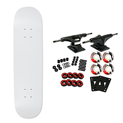 Moose Complete Skateboard Dipped White 7.0