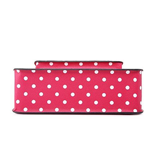 Miss Lulu - Bolso estilo cartera para mujer - Polka Dots Light Pink