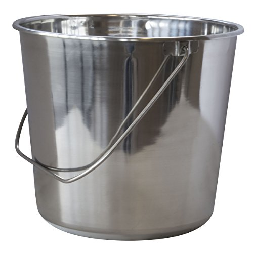 (Amerihome Large Stainless Steel Bucket)