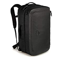 The Osprey Transporter carry-on bag is versatile, durable, and ready for whatever lays ahead for travelers on the move. Built to fit most domestic airline carry on rules, this travel backpack can be carried either by the padded side handles, ...