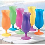 Plastic Neon Hurricane Glasses 1 ct (1 per package)