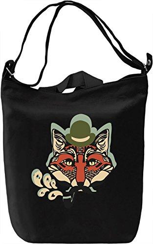 Smart fox Borsa Giornaliera Canvas Canvas Day Bag| 100% Premium Cotton Canvas| DTG Printing|